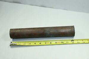 2 Diameter Solid Round Copper Rod Bar Stock 12 Long Weight 12lbs 10oz