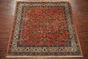 Antique 8x9 Persian Sarouk Area Rug Square 1930 S Hand Knotted Wool 8 2 X 8 8