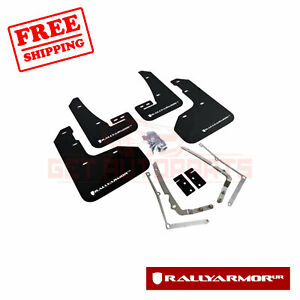 Rally Armor Ur Black Mud Flap W White Logo For 2015 17 Vw Golf R Mf40 Ur Blk Wh