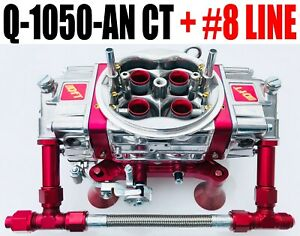 Quick Fuel Q 1050 anct Carburetor Circle Track Annular Booster With 8 Red Line