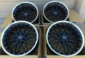 19 Black polished Lip Mrr Gt1 Wheels 19x8 5 35 19x9 5 25 5x120 Fits Bmw E46 M3