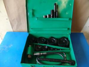 Greenlee 7310 Hydraulic Knockout Punch And Die Set 1 2 To 4 8 31 5