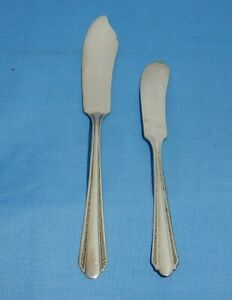 Rogers Oneida Silverplate Croydon Mary Lee Master Butter Knife amp; Butter Spreader $1.99