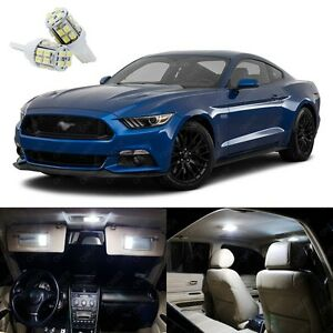 10 X Xenon White Led Interior Light Package Kit For Ford Mustang 2015 2019