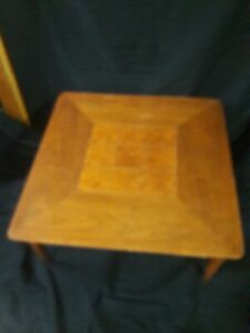 Lane Coffee Table Vintage Inlaid Walnut 60s In Great Condition Easy Resale