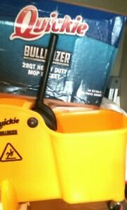 Professional Quickie Bulldozer 28qt Heavy Duty Mop Bucket With Ringer
