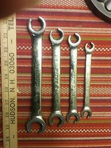 Matco Tools 4 Piece Double End 6 P Offset Flarenut Wrench Set Sae