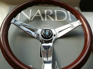 Nardi Deep Corn 350 Steering Wheel Mahogany Glossy Spokes 80 Mm Deep 14 Inches