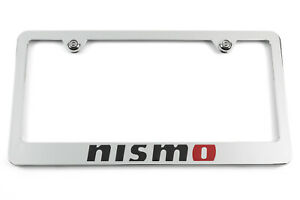 Nismo Chrome License Plate Frame For Nissan Gtr 370z 350z Juke Skyline Licensed