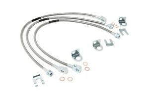 Rough Country Stainless Brake Lines Set Fits 1987 2006 Jeep Wrangler Yj Tj 84