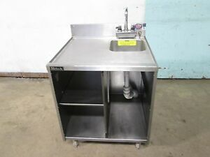 perlick Commercial Hd Under Counter S s Storage Cabinet W wash Sink Faucet