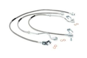 Rough Country Stainless Brake Lines Set Fits 1999 2004 Ford Super Duty F250