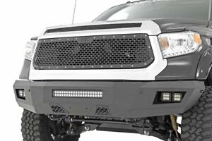 Rough Country Custom Mesh Grille Fit 2014 2017 Toyota Tundra Black Powdercoat