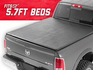 Rough Country Soft Tri fold fits 2009 2018 Dodge Ram 5 7 Ft Bed Tonneau Cover