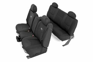 Rough Country Neoprene Seat Covers For 99 06 Chevy Silverado 1500 Ext Cab Fr Rr