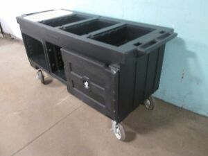 cambro Versa Work Table Ultra Series Durable Portable W storage H d Casters