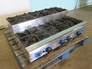 rankin delux Hd Commercial nsf Natural gas 6 Burners Step Counter top Stove