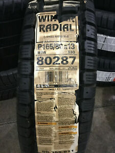 1 New 165 80 13 Winter Radial White Wall Snow Tire