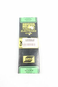 Box Of 10 Esab 81z43 Heliarc Tungsten Electrode 5 32in X 7in