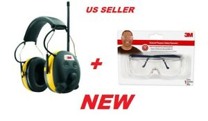 3m Worktunes Hearing Protector With Am fm Radio 1 Pack Plus Safety Glasses Pkg
