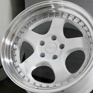18x8 5 30 5x114 3 White Esr Sr06 Wheels 18 For Acura Rsx Tsx Cl Tl Accord Civic