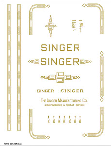 Singer Model 201 Sewing Machine Waterslide Restoration Decals
