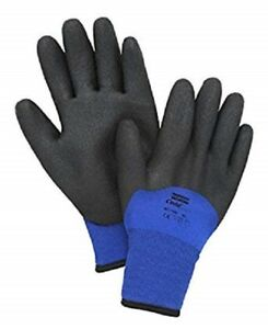 12 Pair North Flex Cold Grip Pvc Coated Insulated Gloves Nf11hd Size Medium 8m