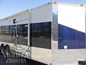 New 2020 8 5 X 24 V nose Enclosed Cargo Car Hauler Trailer Loaded Race Package 3