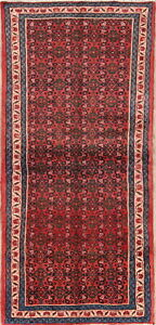 One Of A Kind Traditional Persian Hamedan Oriental Hand Knotted 3 X7 Runner Rug