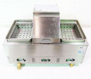 Used Crown Verity Inc Cv 3whs Stainless Steel 3 Comp Electric Hot Dog Steamer