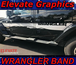 Jeep Wrangler Side Band Stripe 3m Decal Stickers Vinyl Graphics Fits 2007 2018