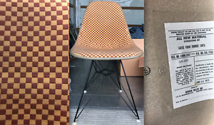 Eames Herman Miller Chair Alexander Girard Checkerboard Side Shell Eiffel Base