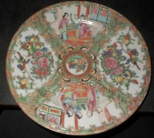 C1910 Perfect Rose Medallion Chinese Export Hand Painted 8 1 2 Plate