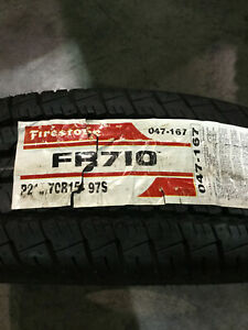2 New 215 70 15 Firestone Fr710 White Wall Tires