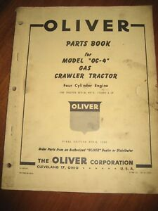 Oliver Oc 4 Gasoline Crawler Tractor Parts Catalog Manual Very Nice Original