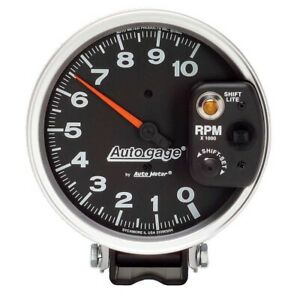 Autometer Auto Gage 5 10 000 Rpm Tachometer With Small Shift Lite