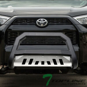 Topline For 2010 2018 Toyota 4runner Avt Bull Bar Grille Guard Matte Blk skid