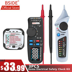 Bside Color Display Ac dc Digital Multimeter Auto Range 6000 Trms Tester Pro Kit