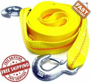 Abn Tow Rope Strap 30 Feet X 2 Inch 10 000 Pound Heavy Duty Towing Nylon