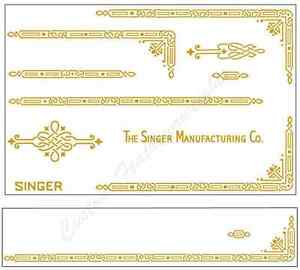Singer Featherweight 221 Sewing Machine Early Style Restoration Decals