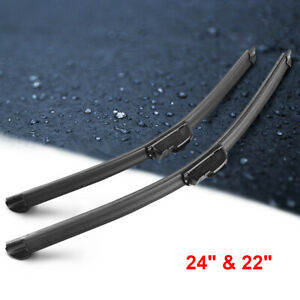24 22 Inch Bracketless Windshield Wiper Blades J Hook Premium Oem Quality