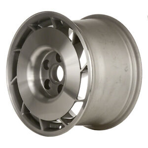 01347 10 Slot 16 Inch Left Directional Wheel Silver Machined With Charcoal Hub