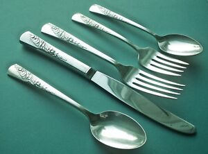 Bridal Corsage 5 Piece Place Setting S Wallace 1953 Silverplate Flatware