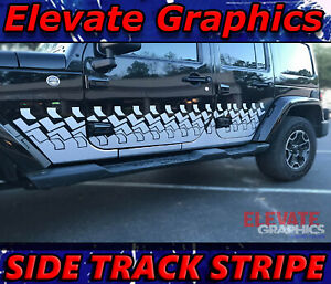 Jeep Wrangler Side Track Stripe 3m Graphics Vinyl Decal Stickers Fits 2007 2018