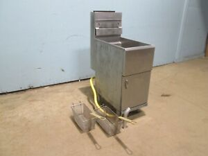 pitco 45c Heavy Duty Commercial nsf 42lbs Natural Gas Deep Fat Fryer