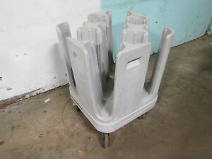 metro Pcd5 H d Commercial 9 Bays 5 Plates bowls Dispenser carrier Poly Cart