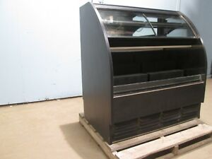 Heavy Duty Commercial Multi zone Lighted Refrigerated Merchandiser Display Case