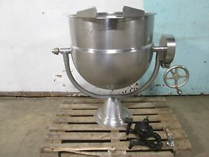 hubbert Son Ptk Hd Commercial nsf Direct Steam 40gl Kettle W manual Lift