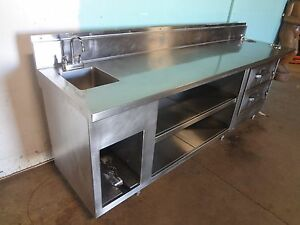 H d S s Server s Service Counter W 2 Drawer Warmers Hand Sink Dipping Well