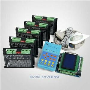Cnc Kit Standard 5 Axis With Keypad Display Ema2 050d42 Stepper Drivers